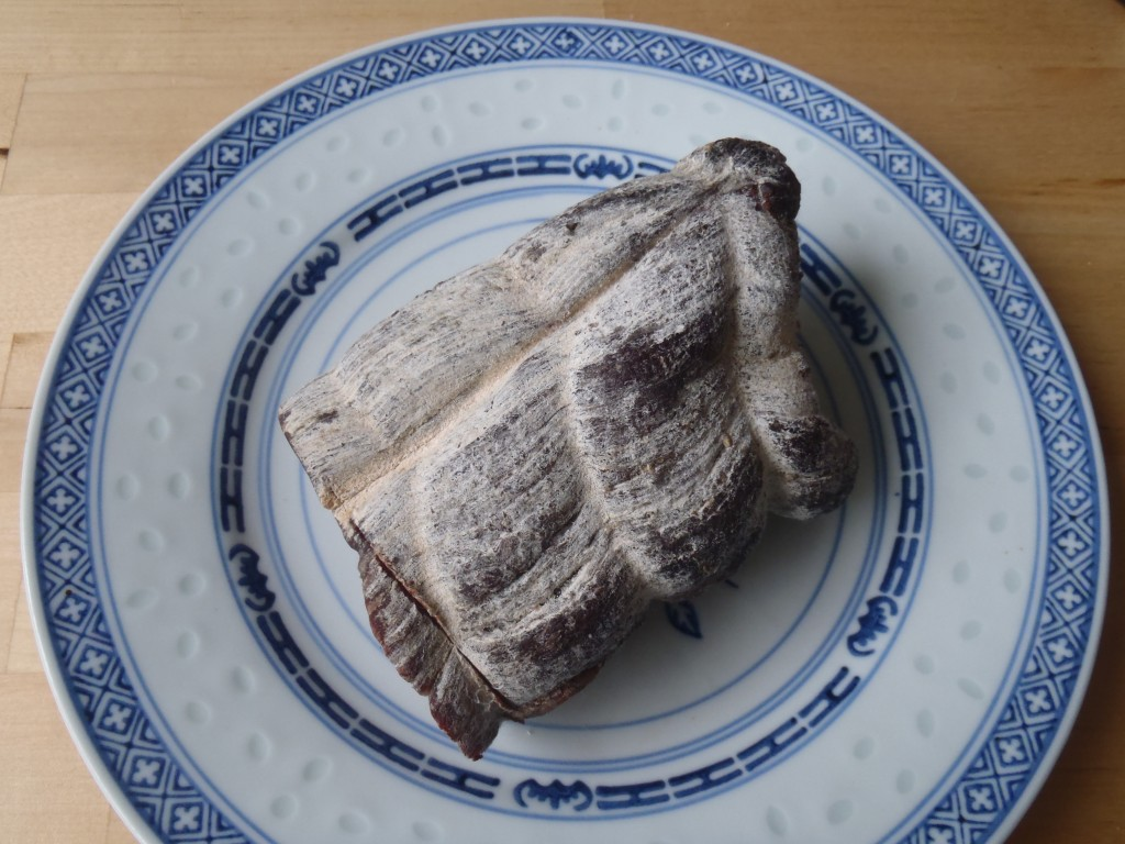 A chunk of air-dried beef, or bresaola, from the cellar