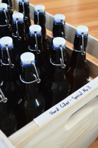 A case of bottle-fermented bubbly cider