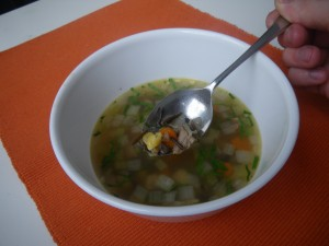 Leftover turkey and wild rice soup