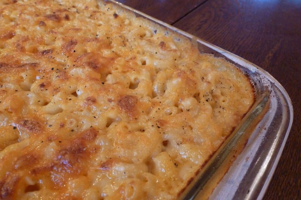Casserole of macaroni, fresh from the oven