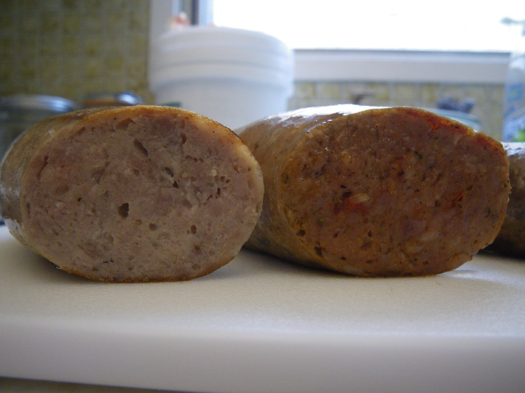 Interior of sausage