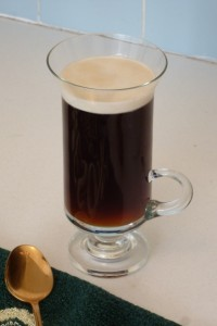 Irish Coffee with Floated Cream