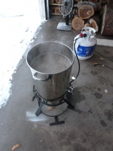 Bringing the wort to a vigorous boil