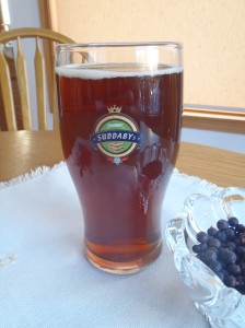 A pint of homebrewed English pale ale