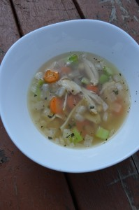 Chicken noodle soup!