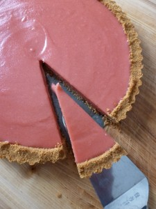 A slice of Evans cherry tart