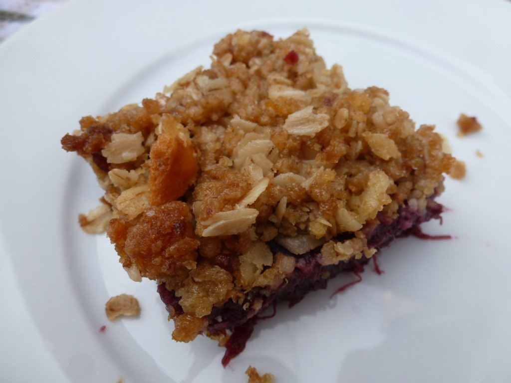 A crumble topping made with properly chilled butter