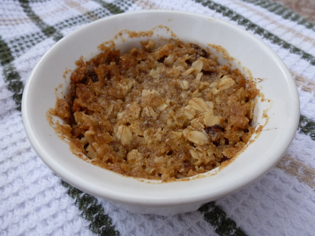 A crumble that was made with warm butter