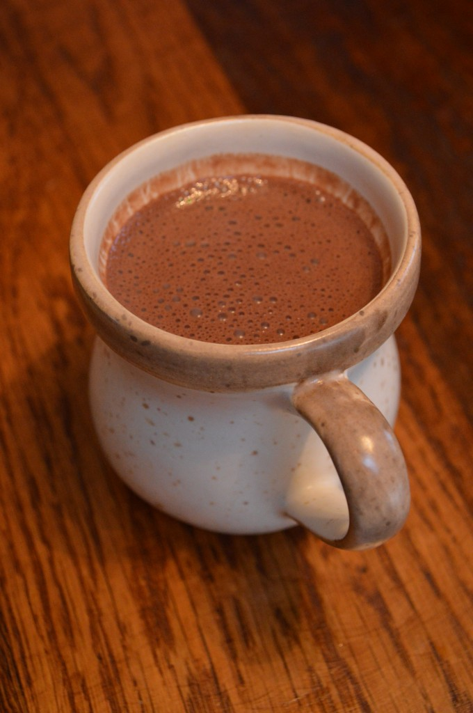 A cup of real hot chocolate