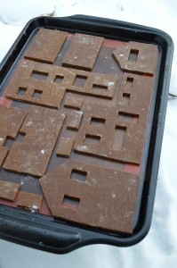 Raw gingerbread, ready for the oven.
