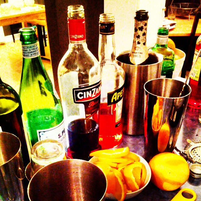Mise en place for Italian aperitivo.