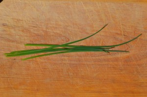 Whole chive stalks