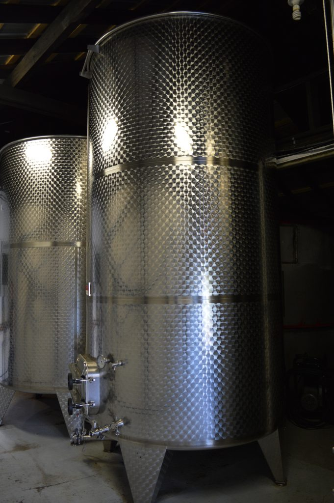 A large fermentation tank at Merridale Cider.