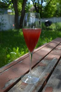 River City Kir: dry apple cider with a splash of cherry liqueur