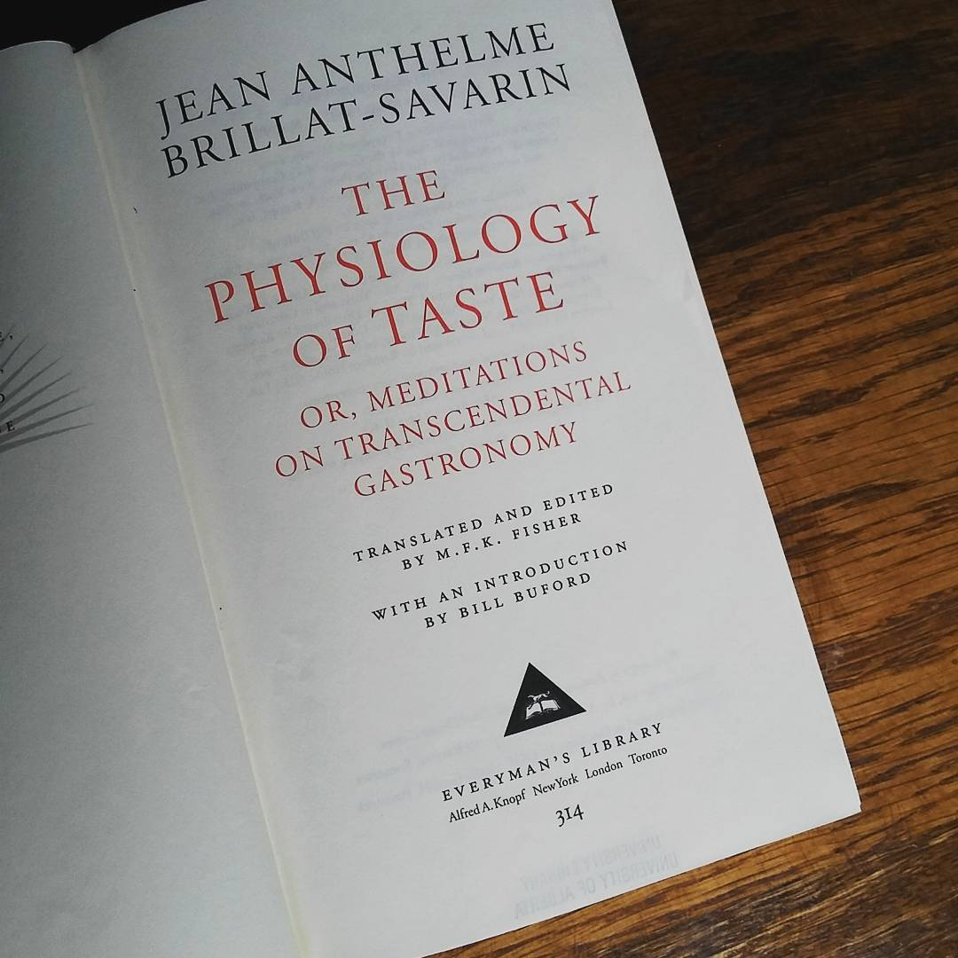 The title page of Brillat-Savarin's The Physiology of Taste