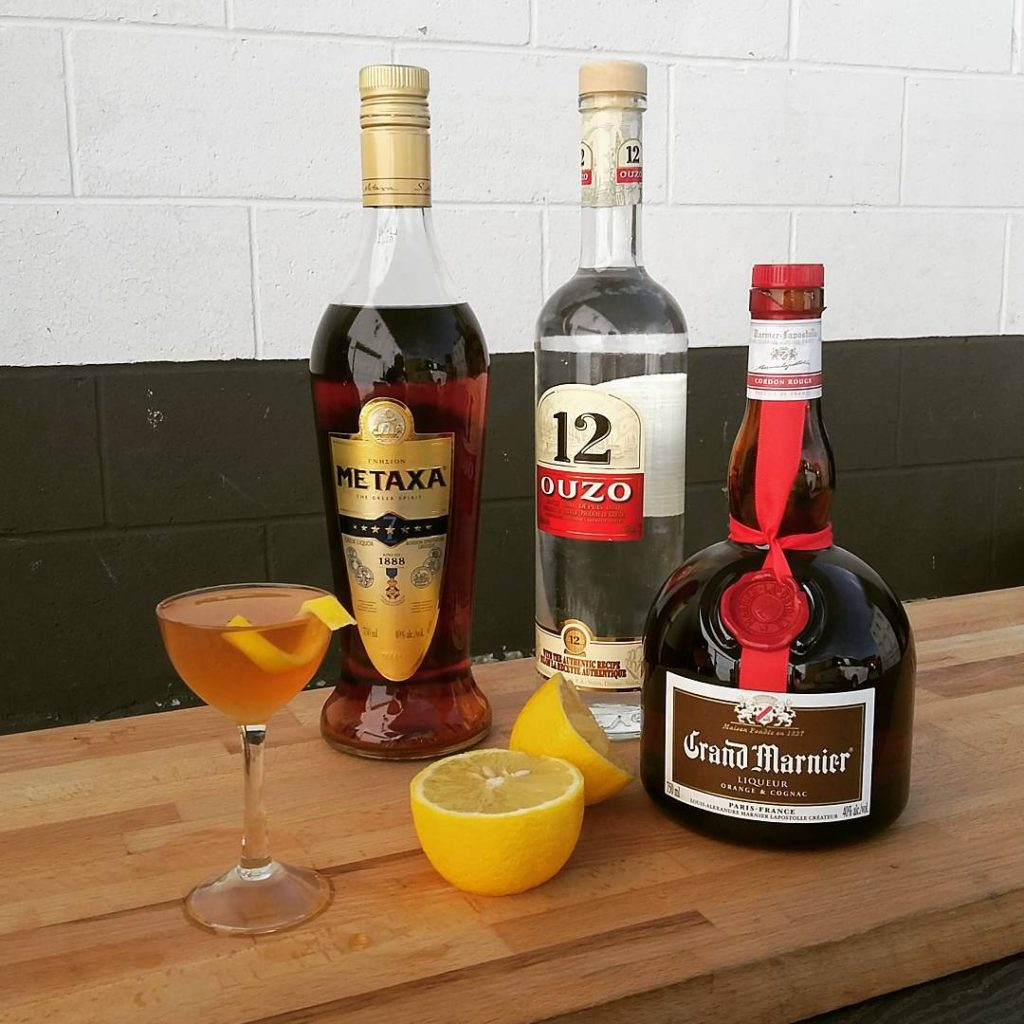 A Greek variation on the classic Sidecar cocktail.