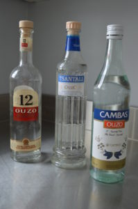 The only three brands of ouzo currently available in Alberta: Ouzo 12, Cambias, and Olympic Ouzo by Tsantali.