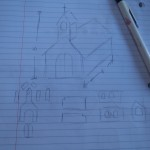 Blueprints for a gingerbread church