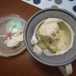 Churning ice cream