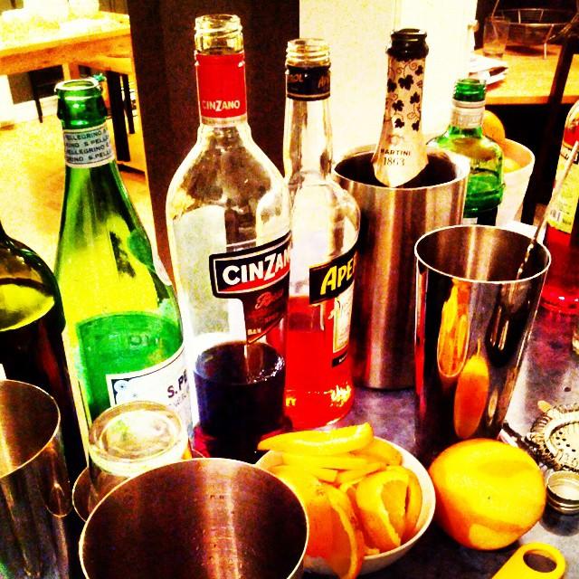 Mise en place for Italian aperitivo.
